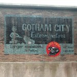 Gotham City Exterminators Ghost Sign - Warner Bros. Movie World (Gotham)