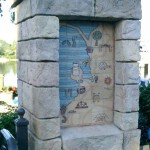 Illustrative Map Bollard - The Waterfront at SeaWorld